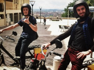 Enjoy Lyon Guided Tours on a moped