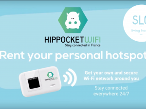 New : PocketWifi at Slo Hostel's reception